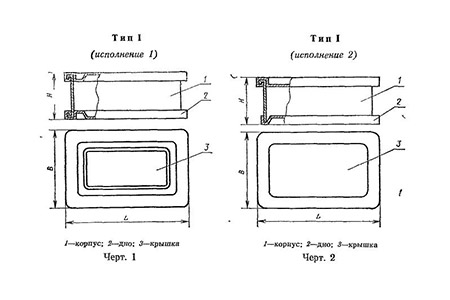 Бак металлический ГОСТ 20854-77 тип1
