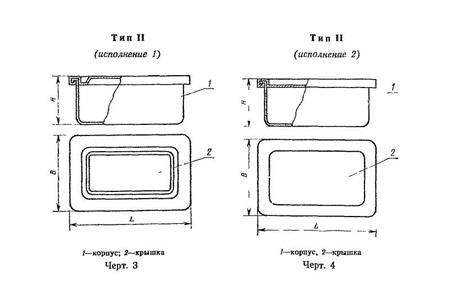 Бак металлический ГОСТ 20854-77 тип2
