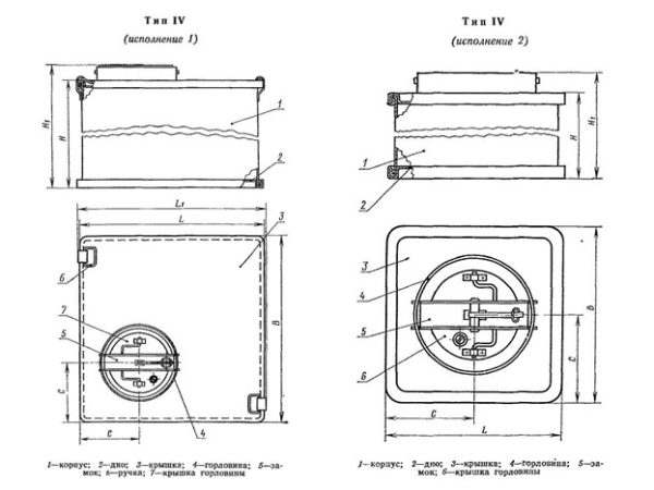 Бак металлический ГОСТ 20854-77 тип4