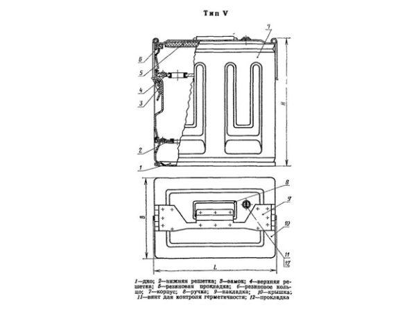 Бак металлический ГОСТ 20854-77 тип5