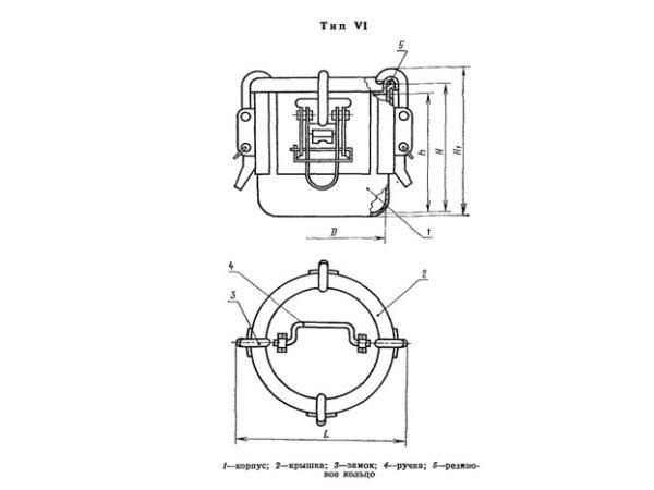 Бак металлический ГОСТ 20854-77 тип6