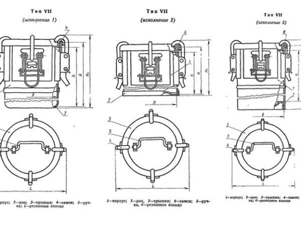 Бак металлический ГОСТ 20854-77 тип7